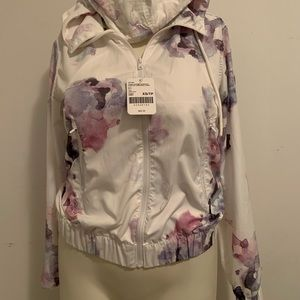 NWT ROOTS packable windbreaker light floral